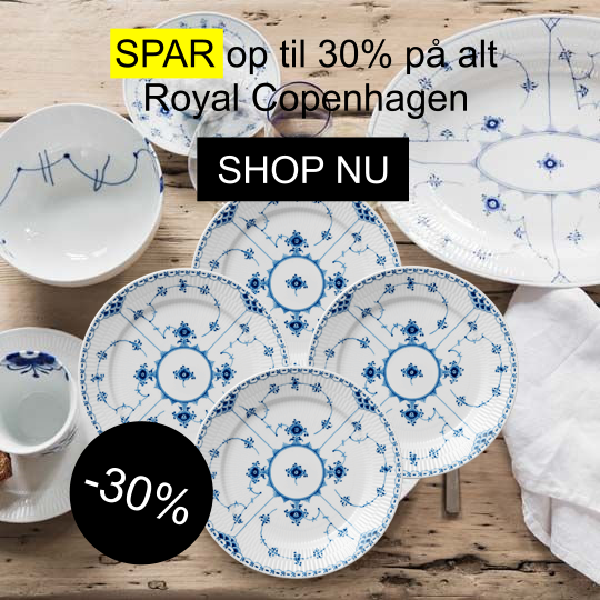 30 procent på Royal Copenhagen